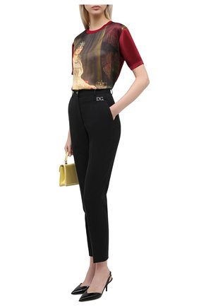 Женские шерстяные брюки DOLCE & GABBANA черного цвета, арт. FTBUZT/FUBEC | Фото 2