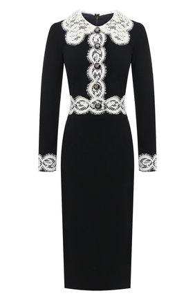 Женское платье DOLCE & GABBANA черного цвета, арт. F6J7KT/FURDV | Фото 1
