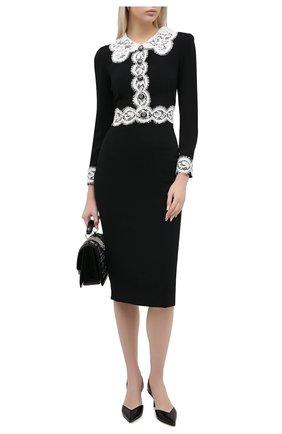 Женское платье DOLCE & GABBANA черного цвета, арт. F6J7KT/FURDV | Фото 2