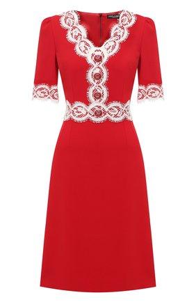 Женское платье DOLCE & GABBANA красного цвета, арт. F6J7IT/FURDV | Фото 1