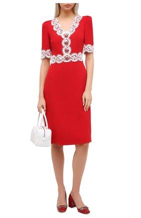 Женское платье DOLCE & GABBANA красного цвета, арт. F6J7IT/FURDV | Фото 2