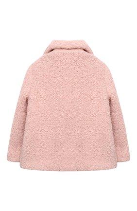 Детское укороченное пальто из шерсти LORO PIANA светло-розового цвета, арт. FAL2579 | Фото 2