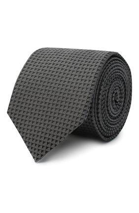 Мужской шелковый галстук HUGO серого цвета, арт. 50447336 | Фото 1