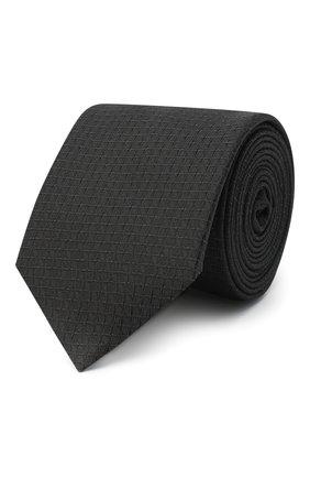 Мужской шелковый галстук HUGO черного цвета, арт. 50447343 | Фото 1