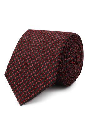 Мужской шелковый галстук HUGO красного цвета, арт. 50447352 | Фото 1