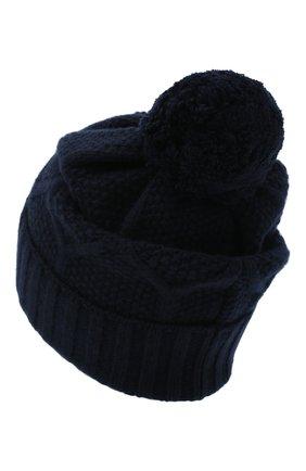 Мужская шерстяная шапка MONCLER темно-синего цвета, арт. F2-091-9Z732-00-A9540 | Фото 2
