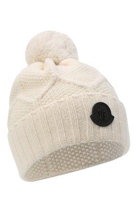 Мужская шерстяная шапка MONCLER белого цвета, арт. F2-091-9Z732-00-A9540 | Фото 1