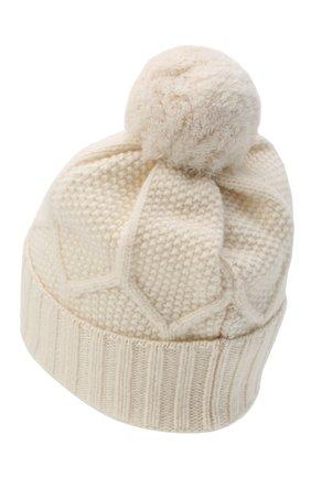 Мужская шерстяная шапка MONCLER белого цвета, арт. F2-091-9Z732-00-A9540 | Фото 2
