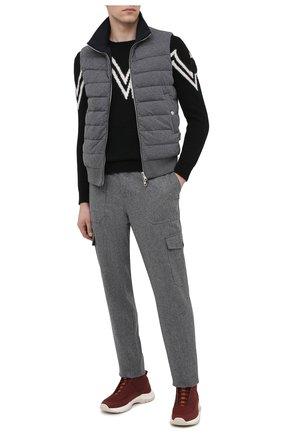 Мужской свитер MONCLER черного цвета, арт. F2-091-9C750-00-A9498 | Фото 2