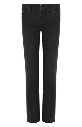 Мужские джинсы ZILLI темно-серого цвета, арт. MCU-00023-LKNC1/R001/AMIS | Фото 1 (Материал внешний: Хлопок; Силуэт М (брюки): Прямые; Длина (брюки, джинсы): Стандартные; Стили: Классический)