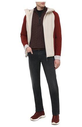 Мужские джинсы ZILLI темно-серого цвета, арт. MCU-00023-LKNC1/R001/AMIS | Фото 2 (Материал внешний: Хлопок; Силуэт М (брюки): Прямые; Длина (брюки, джинсы): Стандартные; Стили: Классический)