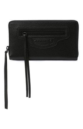 Мужская кожаный футляр для документов BALENCIAGA черного цвета, арт. 640115/15Y07 | Фото 1