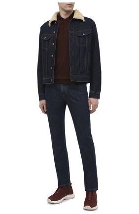 Мужская джинсовая куртка с меховой подкладкой RALPH LAUREN синего цвета, арт. 790813805 | Фото 2