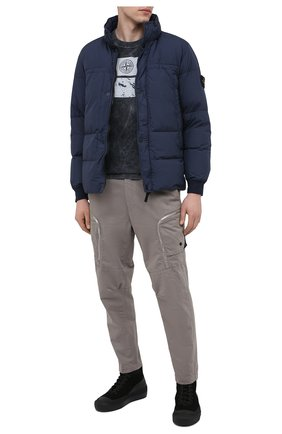 Мужской брюки-карго из хлопка и шерсти STONE ISLAND SHADOW PROJECT серого цвета, арт. 731930508 | Фото 2