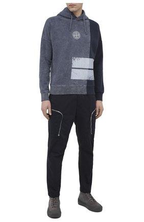 Мужской брюки-карго из хлопка и шерсти STONE ISLAND SHADOW PROJECT темно-синего цвета, арт. 731930508 | Фото 2