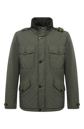 Мужская утепленная куртка STONE ISLAND темно-зеленого цвета, арт. 731543532 | Фото 1