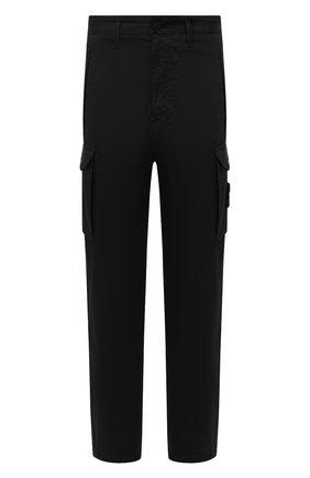 Мужской брюки-карго из хлопка и шерсти STONE ISLAND черного цвета, арт. 7315326F4 | Фото 1