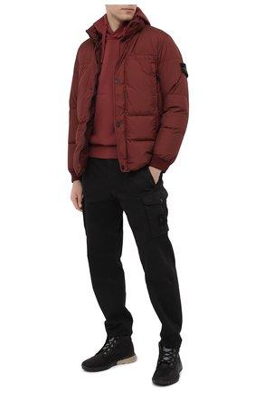 Мужской брюки-карго из хлопка и шерсти STONE ISLAND черного цвета, арт. 7315326F4 | Фото 2