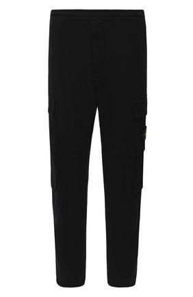 Мужской хлопковые брюки-карго STONE ISLAND черного цвета, арт. 731531710 | Фото 1