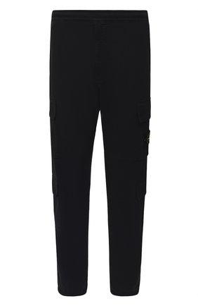 Мужской хлопковые брюки-карго STONE ISLAND темно-синего цвета, арт. 731531710 | Фото 1