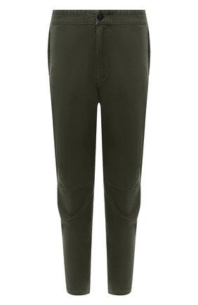 Мужской хлопковые брюки STONE ISLAND зеленого цвета, арт. 7315309L1 | Фото 1