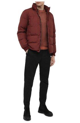 Мужской хлопковые брюки STONE ISLAND черного цвета, арт. 7315309L1 | Фото 2