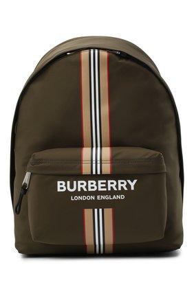 Мужской текстильный рюкзак BURBERRY хаки цвета, арт. 8035765 | Фото 1