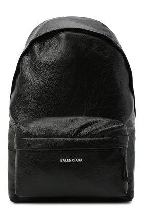 Мужской кожаный рюкзак explorer BALENCIAGA черного цвета, арт. 503221/1WG8X | Фото 1