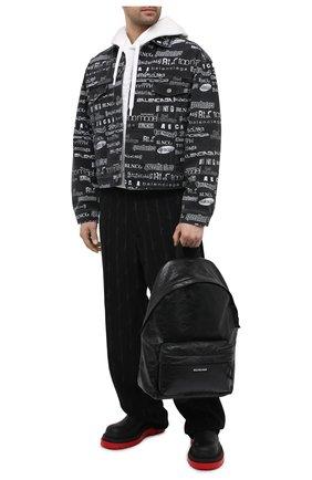 Мужской кожаный рюкзак explorer BALENCIAGA черного цвета, арт. 503221/1WG8X | Фото 2