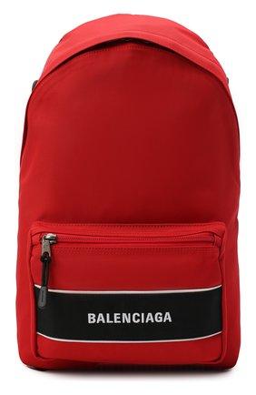 Мужской текстильный рюкзак sport BALENCIAGA красного цвета, арт. 638106/2HFLX | Фото 1