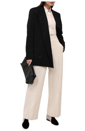 Женская комбинированные дерби GIORGIO ARMANI черно-белого цвета, арт. X1C210/XM557 | Фото 2