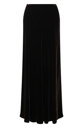 Женская юбка из вискозы RALPH LAUREN коричневого цвета, арт. 290838307 | Фото 1