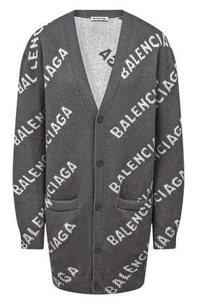 Женский шерстяной кардиган BALENCIAGA серого цвета, арт. 620984/T1567 | Фото 1