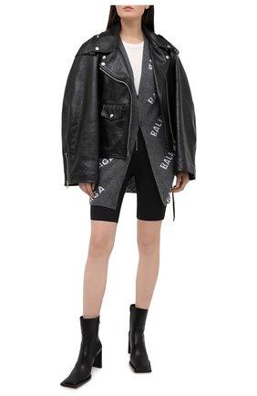 Женский шерстяной кардиган BALENCIAGA серого цвета, арт. 620984/T1567 | Фото 2