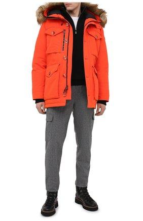 Мужская пуховая парка rlx RALPH LAUREN оранжевого цвета, арт. 784825215   Фото 2