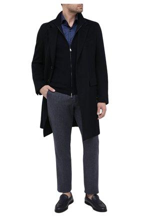 Мужские кожаные лоферы BILLIONAIRE темно-синего цвета, арт. O20S MSB0475 BLE010N | Фото 2