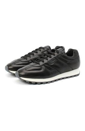 Мужские кожаные кроссовки CHURCH'S черного цвета, арт. EEG036/9CQ | Фото 1