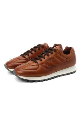 Мужские кожаные кроссовки CHURCH'S светло-коричневого цвета, арт. EEG036/9AHF | Фото 1