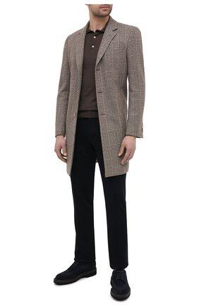 Мужской шерстяные брюки ZILLI темно-синего цвета, арт. M0U-40-A-D6481/0001 | Фото 2