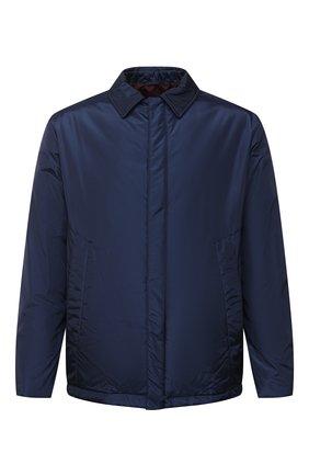 Мужская пуховая куртка ZILLI SPORT темно-синего цвета, арт. MAU-ZS005-00000/0001 | Фото 1