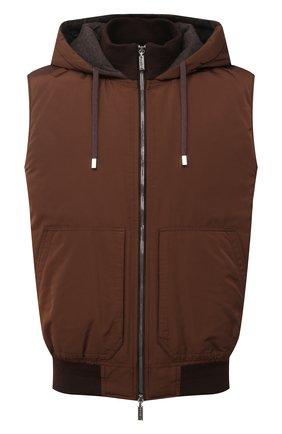 Мужской пуховый жилет ZILLI SPORT коричневого цвета, арт. MAU-ZS136-PASE0/SM01 | Фото 1