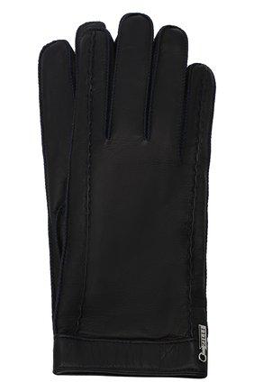 Мужские кожаные перчатки ZILLI темно-синего цвета, арт. MIU-GA149-AGWS0/0001 | Фото 1