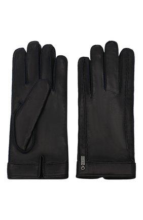 Мужские кожаные перчатки ZILLI темно-синего цвета, арт. MIU-GA149-AGWS0/0001 | Фото 2