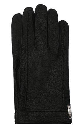 Мужские кожаные перчатки ZILLI черного цвета, арт. MIU-GA149-CERWS/0001 | Фото 1