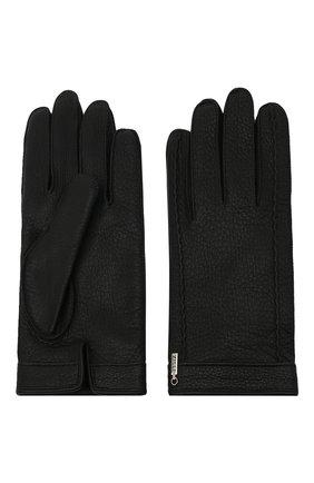 Мужские кожаные перчатки ZILLI черного цвета, арт. MIU-GA149-CERWS/0001 | Фото 2