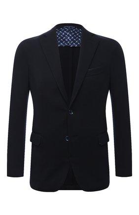 Мужской шерстяной пиджак ZILLI темно-синего цвета, арт. MNU-JC2F-2-D6481/0001 | Фото 1