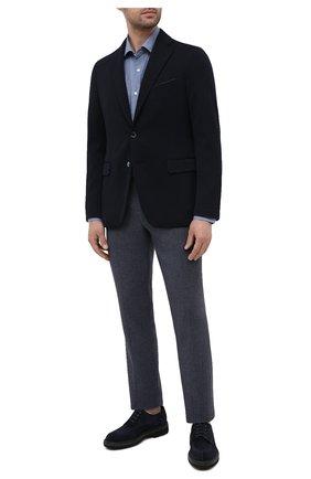 Мужской шерстяной пиджак ZILLI темно-синего цвета, арт. MNU-JC2F-2-D6481/0001 | Фото 2