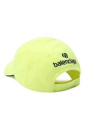 Мужской хлопковая бейсболка BALENCIAGA желтого цвета, арт. 640213/410B2 | Фото 2