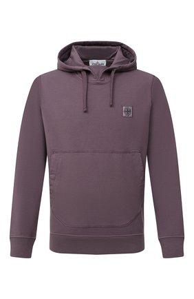 Мужской хлопковое худи STONE ISLAND фиолетового цвета, арт. 731562937 | Фото 1