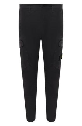 Мужской хлопковые брюки-карго STONE ISLAND темно-серого цвета, арт. 731531310 | Фото 1